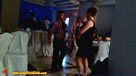 David bailando sevillanas en Nochevieja