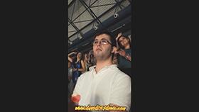 David en el concierto de Bisbal