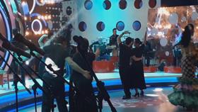 David actuando en la televisión