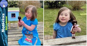 Niña con síndrome de Down recibió una muñeca inspirada en ella