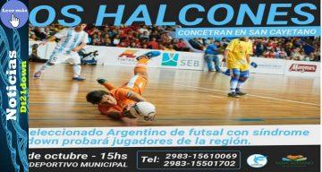 La Selección Argentina de Futsal con Síndrome de Down probará jugadores y jugará exhibiciones en San Cayetano